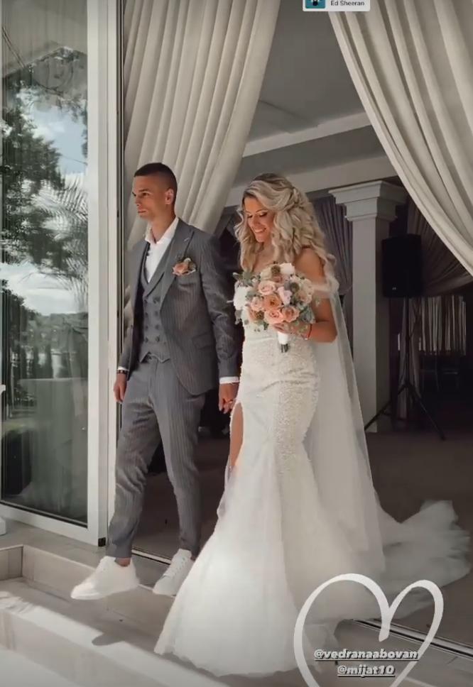 Mijat Gaćinović i Vedrana, supruga