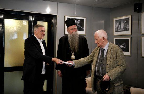 Dušan Kovačević, mitropolit Joanikije i Matija Bećković
