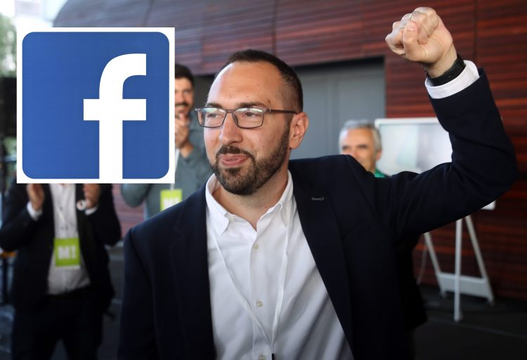 Tomislav Tomašević, Facebook, Fejsbuk