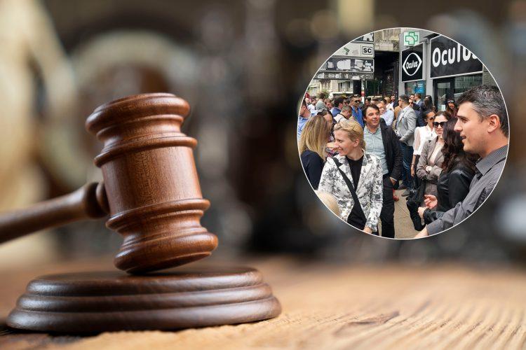 Čekić, protest advokata, advokati