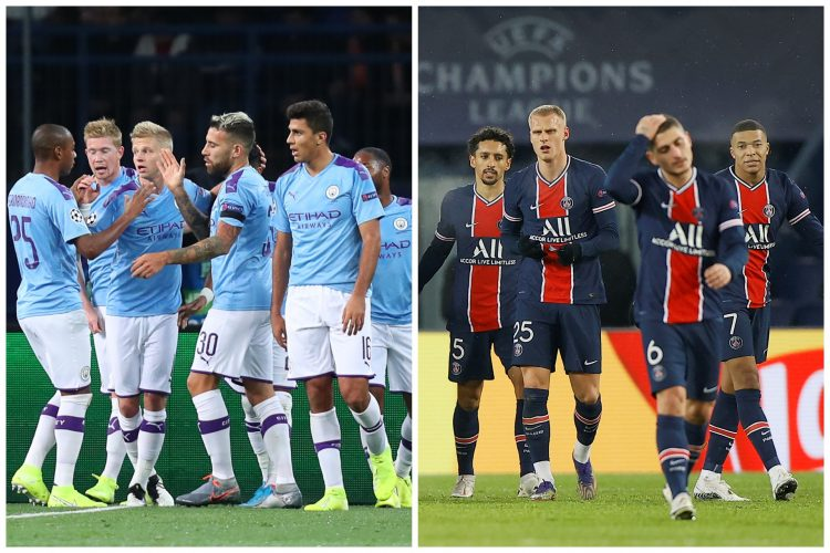 Manchester city i PSG igrači kombo