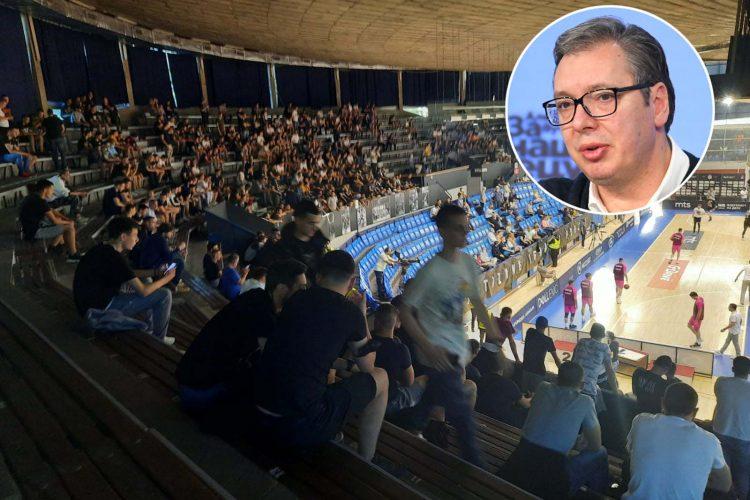 Košarka, Partizan, navijači, Aleksandar Vučić