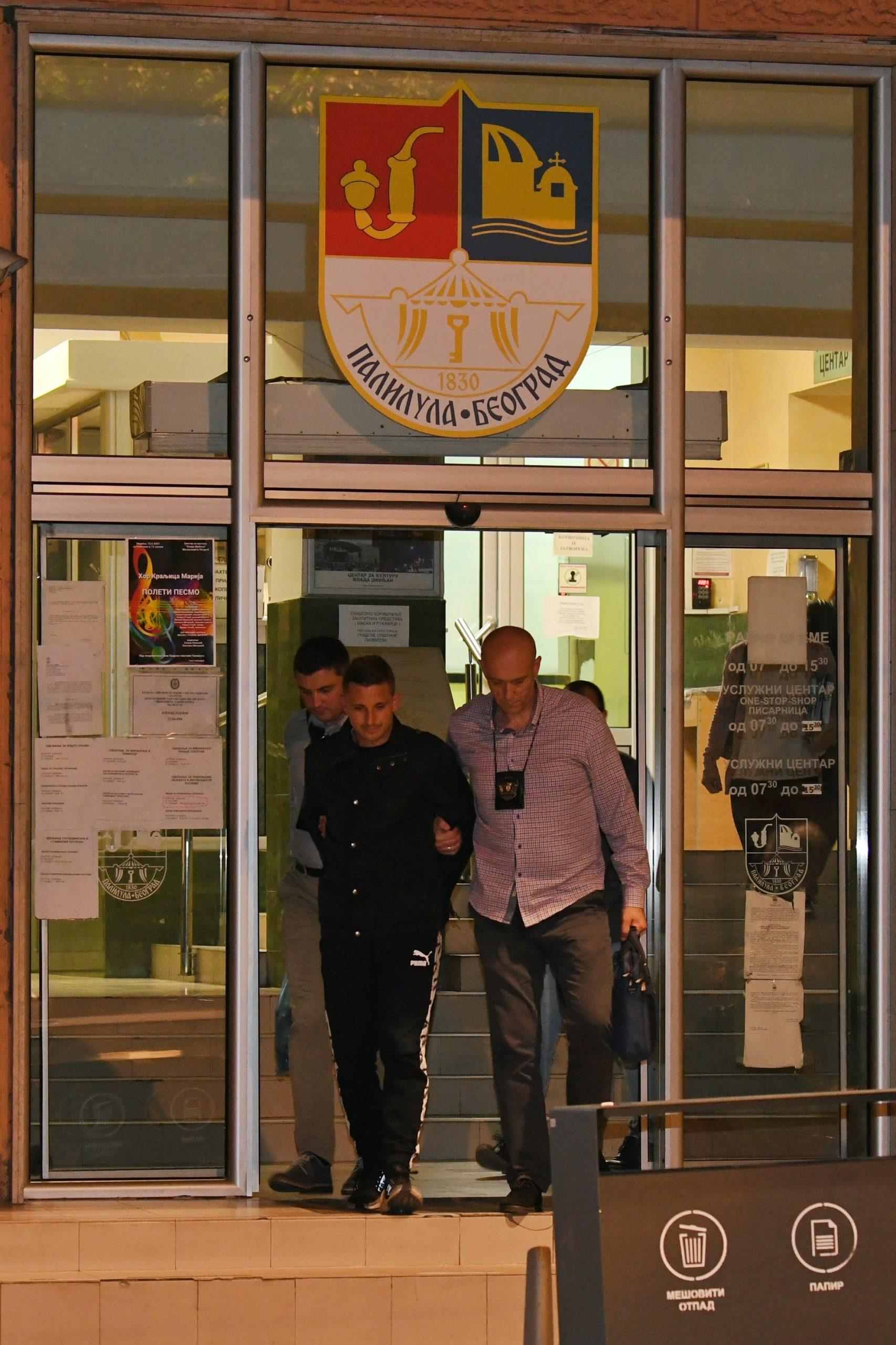 Aleksandar Jovičić, hapšenje, privodjenje, opština Palilula