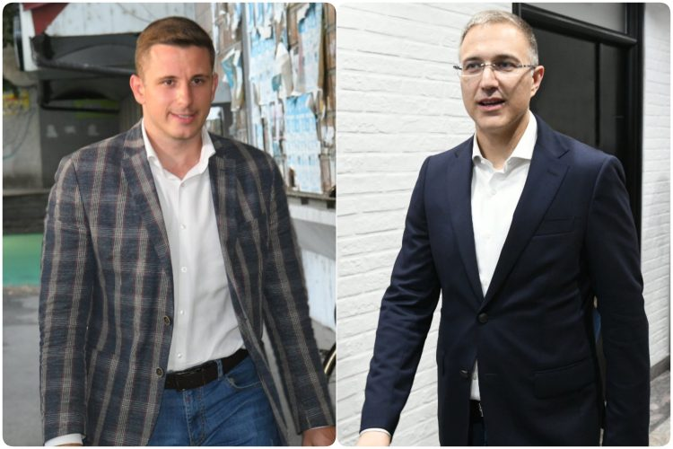 Aleksandar Vucic i Nebojsa Stefanovic