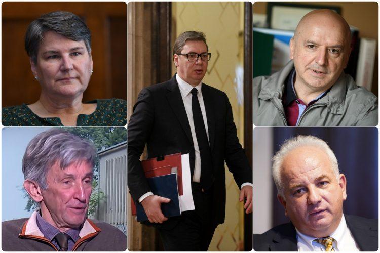 Aleksandar Vucic, Ratko Ristic, Branislav Bozovic, Petar Bulat, Ivanka Popovic