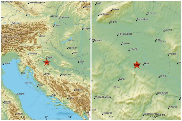 Hrvatska, zemljotres