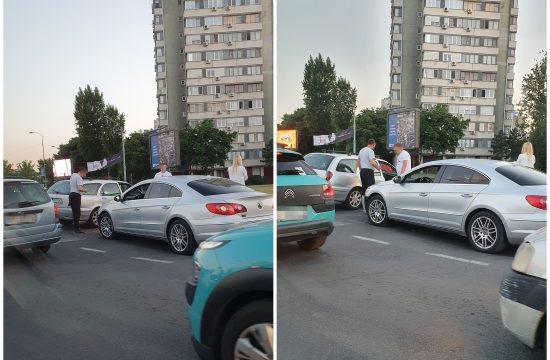 Kružni tok, Novi Beograd, saobraćajna nesreća, udes, usporen saobraćaj