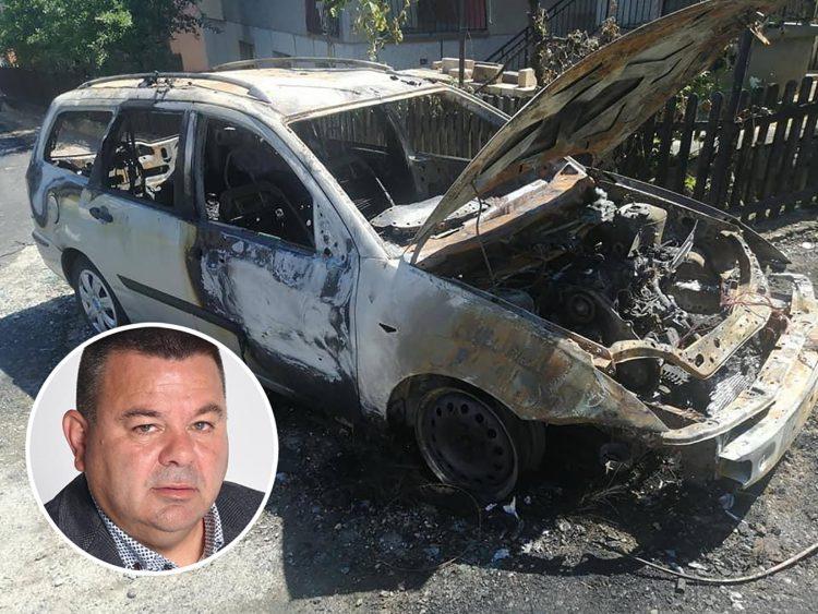 Čedomir Vranjković, Loznica, zapaljen automobil