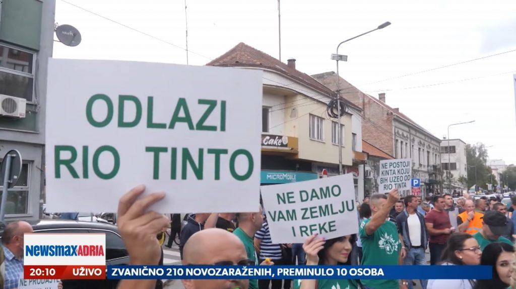 Rio Tinto, demokratski o Rio Tintu na referendumu, prilog, emisija Pregled dana