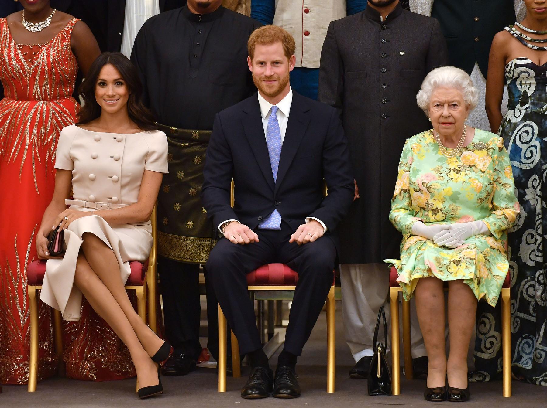 Megan, princ Hari i kraljica Elizabeta