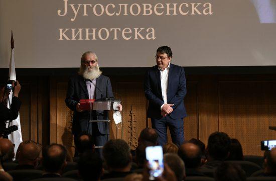 Jugoslovenska kinoteka dodela priznanja Zlatni pecat Milorad Jaksic Fandjo Jugoslav Pantelic