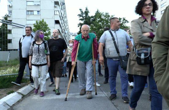 Protest zbog izgradnje Novi Beograd Blok 37