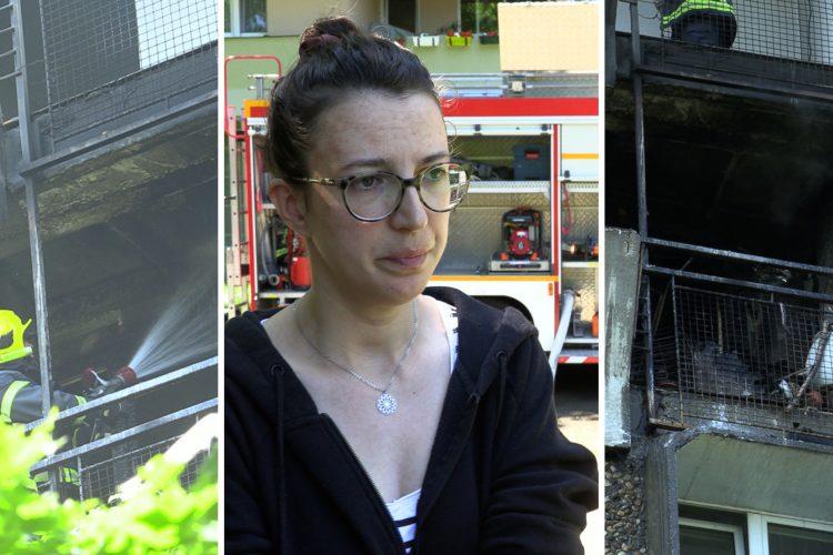 požar televizorka Novi Beograd