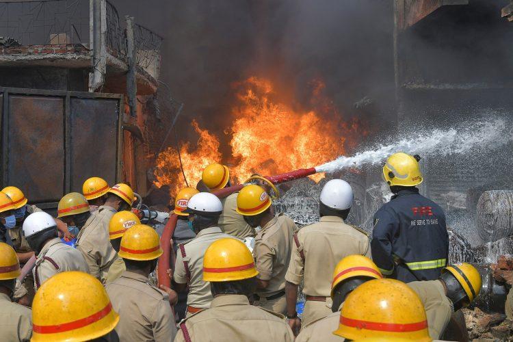 Indija, požar