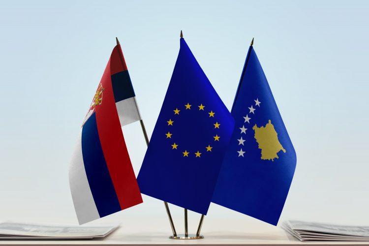 Srbija, EU, Evropska unija, Kosovo, zastave, zastava
