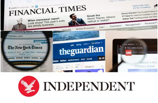 CNN, Guardian, Financial Times, The Independent i The New York Times