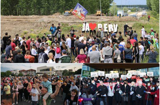 Protest Bara Reva, stanari Bloka 37 i Makisko polje