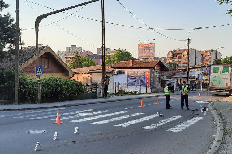 Kragujevac 08.06.2021. Saobraćajna nesreća, kamion udario ženu, poginula žena, policija, uviđaj, uvidjaj