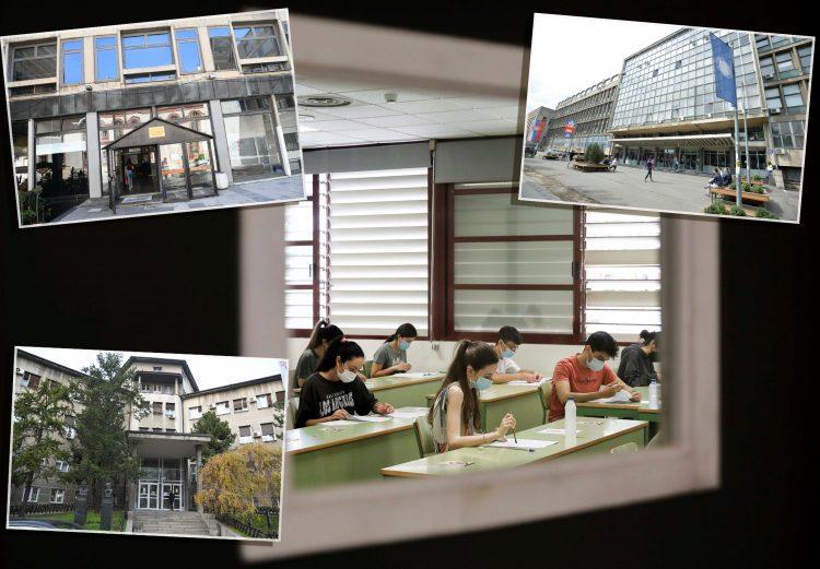 Studenti i fakulteti Masinski fakultet Medicinski fakultet i Filozofski fakultet