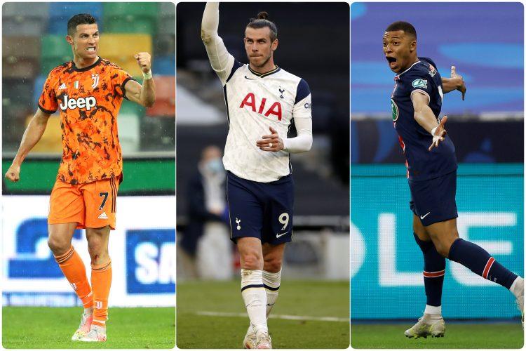 Kristijano Ronaldo, Kilijan Mbape, Garet Bejl
