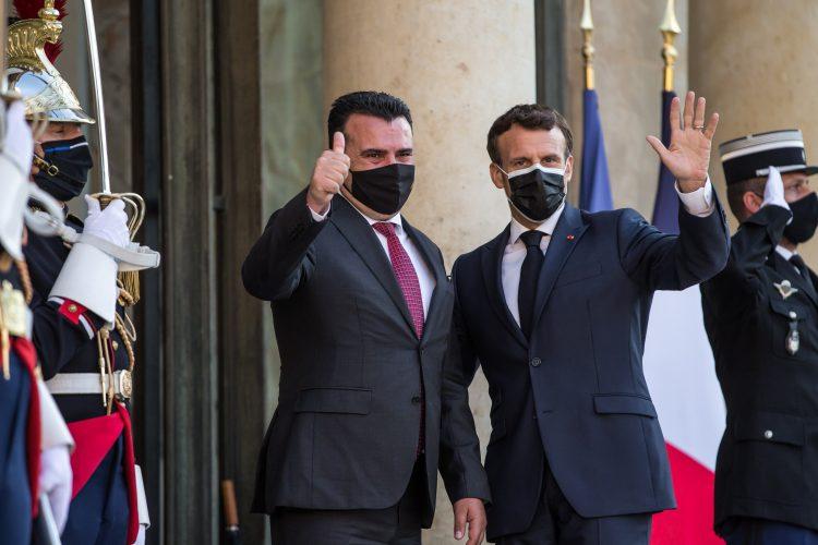 Zoran Zaev i Emanuel Makron Emmanuel Macron
