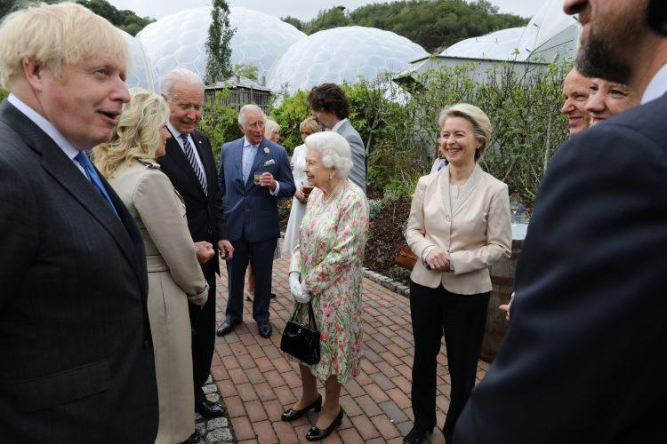 Kraljica Elizabeta i G7 Joe Biden Jill Boris Johnson Dzo Bajden Dzil Bajden Boris Dzonson Angela Merkel Ursula von der Lajen queen Elizabeth