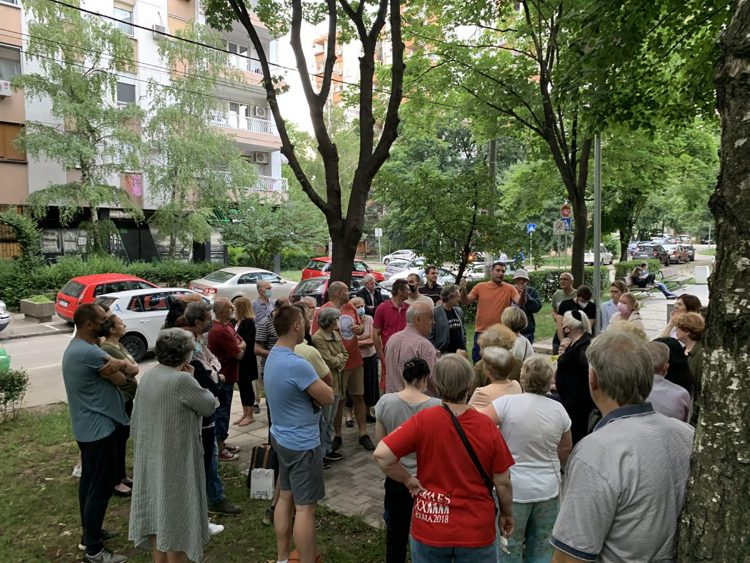 Dorcol Solunska ulica protest stanara