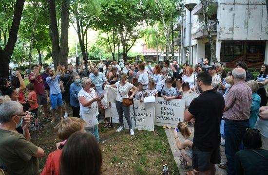 Dorćol, Solunska ulica, protest stanara