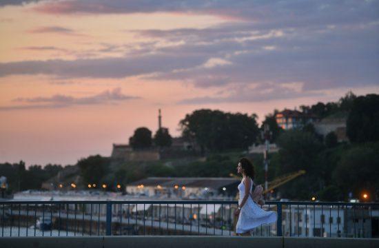 Beograd, zalazak sunca, grad, lepo vreme, leto, veče