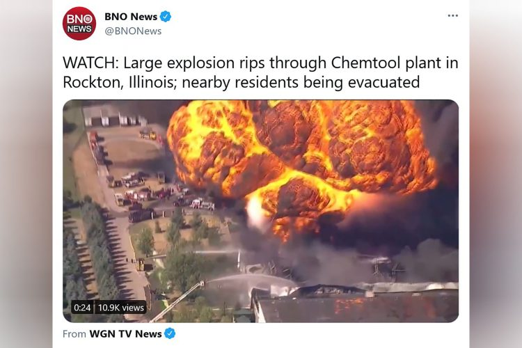 Ilinois, eksplozija, fabrika, Rokton, Kemtul, Chemtool, Rockton