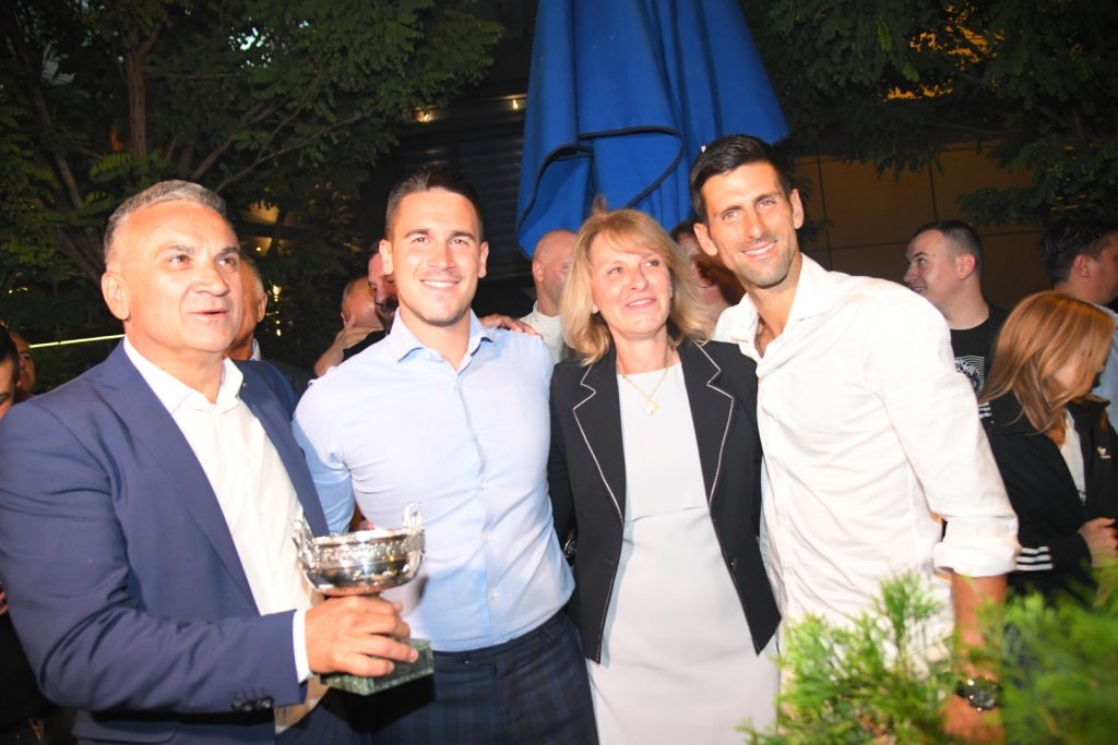 Novak Đoković, Novak Djoković, proslava, restoran
