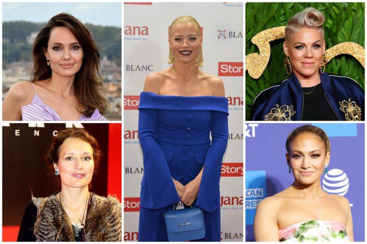 Anđelina Džoli, Andjelina Džoli, Ivana Žigon, Kristina Bekvalac, Pink, Dženifer Lopez
