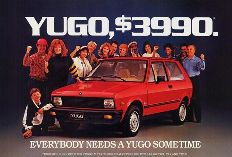 yugo, reklama, USA
