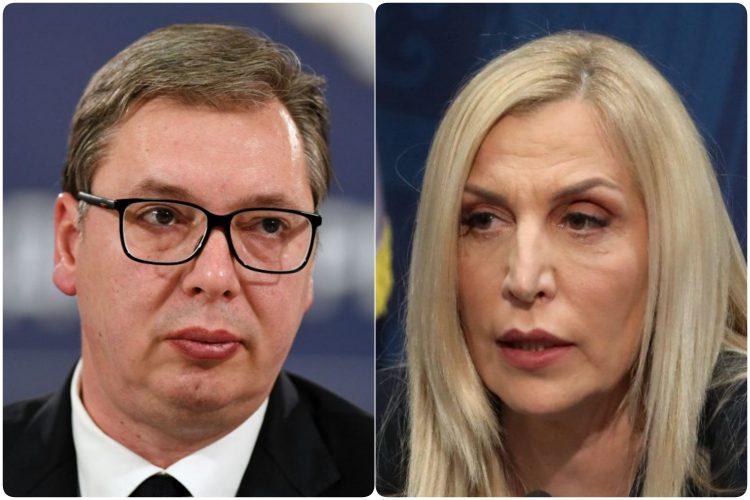 Aleksandar Vucic i Maja Popovic