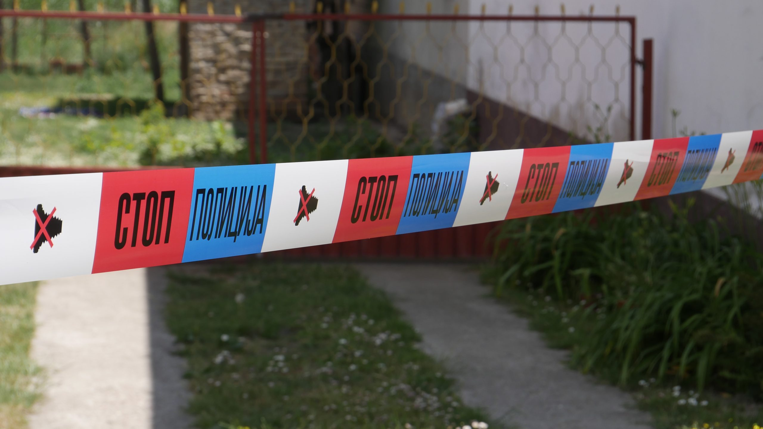 Mesto zlocina policijska traka policija zlocin