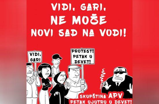 Novi Sad, protest, Novi Sad na vodi, Vidi Gari ne može