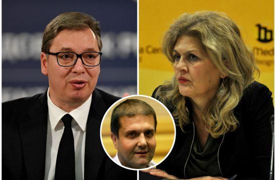 Aleksandar Vučić, Radmila Dragičević Dičić, Darko Šarić,