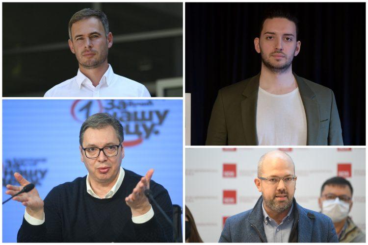 Miroslav Aleksić, Aleksandar Vučić, Pavle Grbović, Konstantin Samofalov