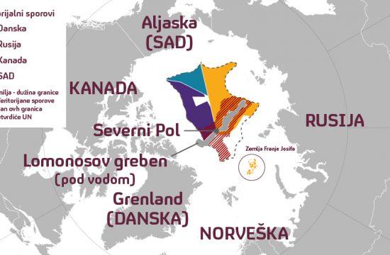 severni pol, arktik, mapa
