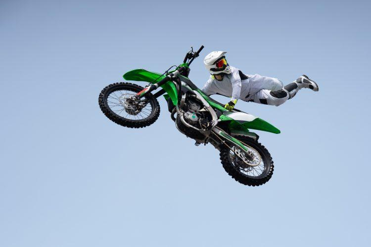 Kaskader, motociklista Ilustracija