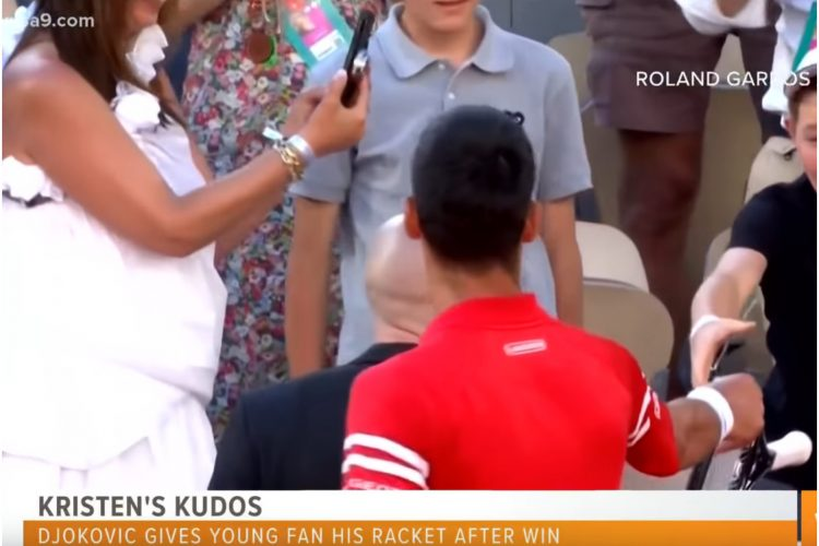 Novak Đoković i dečak