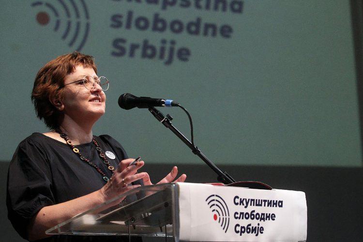 Biljana Stojkovic Skupstina Slobodne Srbije
