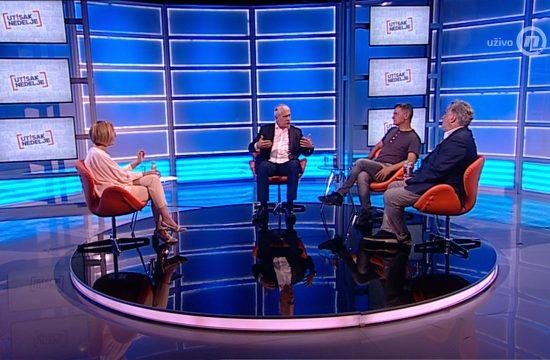 Boris Tadić, Aleksandar Jovanović Ćuta, Vladimir Gajić, emisija Utisak nedelje