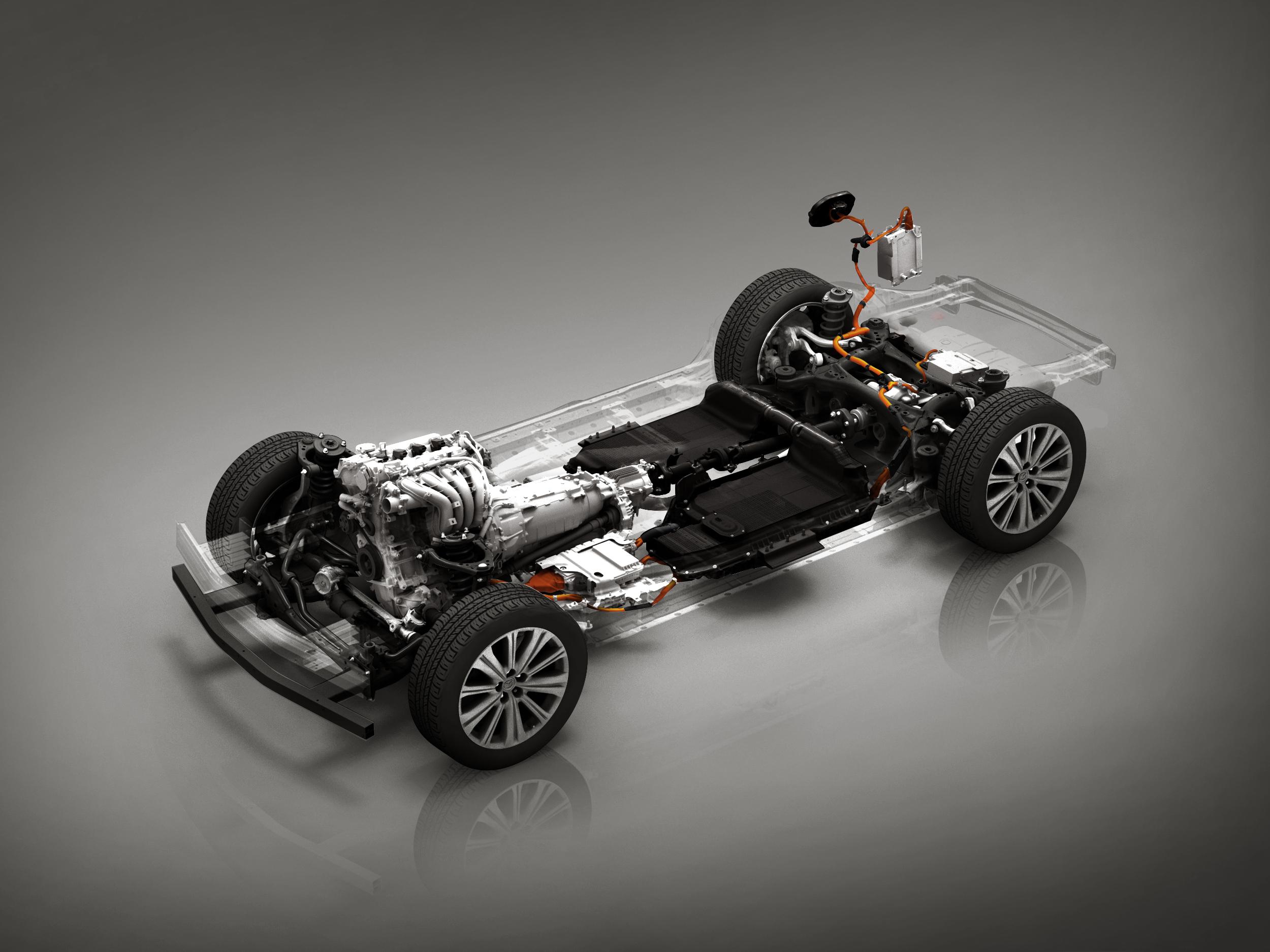 Mazda hibridna platforma, električni automobil