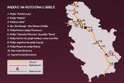 Grafika, mapa, radovi na putu, Srbija
