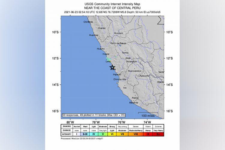 Peru, zemljotres