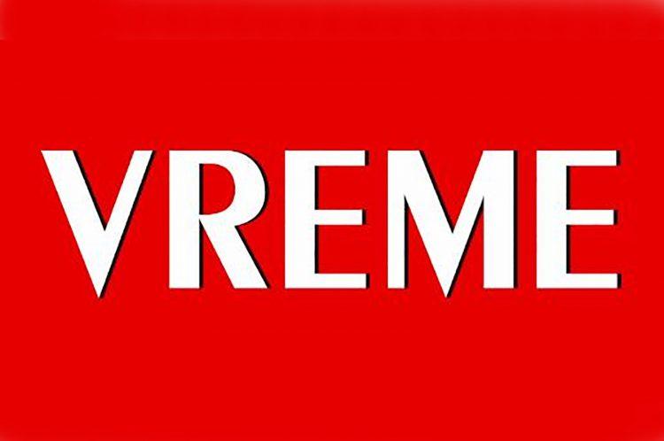 Nedeljnik Vreme, logo