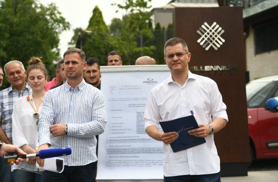 Miroslav Aleksic i Vuk Jeremic konferencija za novinare