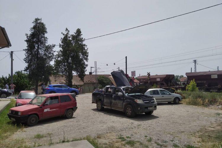 Kamionet nakon eksplozije