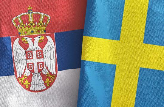 Srbija, Švedska, zastava